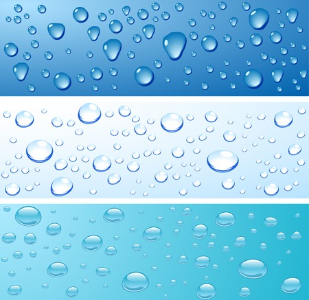 Three wet surfaces. Vector illustration.  Stock Vector - 3387662