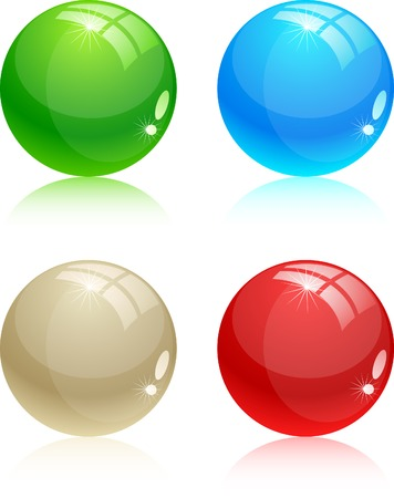 Beautiful glossy balls. Vector illustration. Stock Vector - 3404490