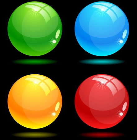 Beautiful balls on dark. Vector illustration.  Illustration