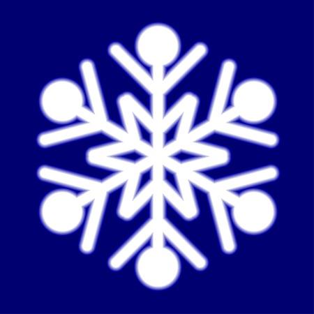 luminous: Luminous snowflake on blue. Vector illustration.