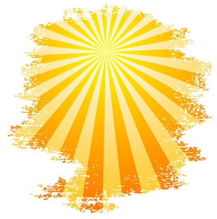 Sun and sunbeams. Vector illustration.  Stock Vector - 3482084