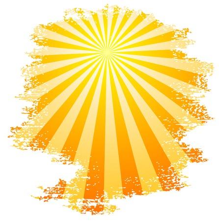 sun vector: Sun and sunbeams. Vector illustration.