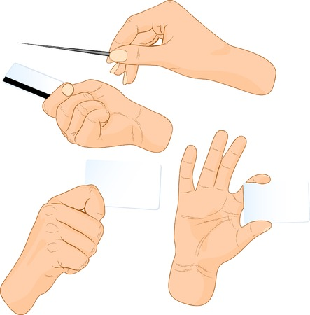 Cards in a hand. Vector illustration.  Illustration