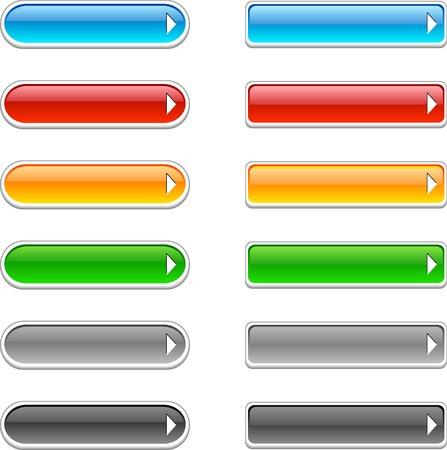siti web: Bello lucido pulsanti. Illustrazione vettoriale.  Vettoriali