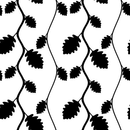 Black seamless background. Vector illustration.  Vector