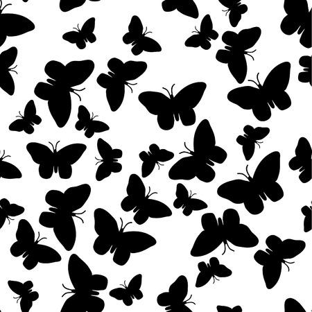 monochroom: Zwarte naadloze achtergrond. Vector illustratie.