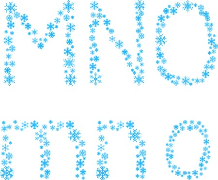Three snowflake letters. Vector illustration.  Stock Vector - 3590317