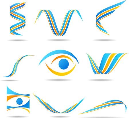 logos negocios: Conjunto de los logos de las empresas. Ilustraci�n vectorial.  Vectores