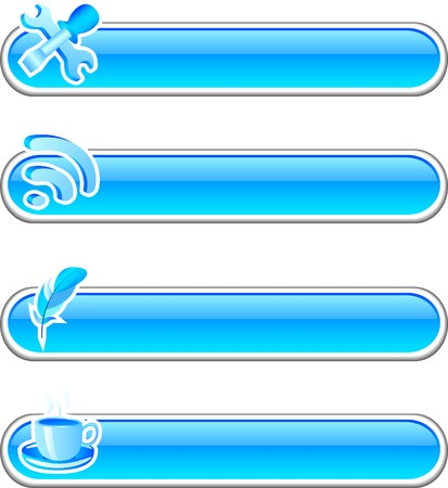 Beautiful shiny buttons. Vector illustration. Stock Vector - 3601693