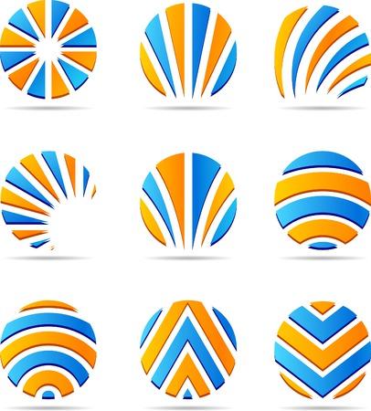 logos empresas: Conjunto de los logos de las empresas. Ilustraci�n vectorial.  Vectores