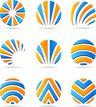loghi aziendali: Set di loghi aziendali. Illustrazione vettoriale.  Vettoriali
