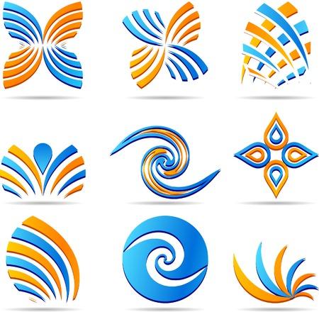 Set of company logos. Vector illustration. Stock Vector - 3606868