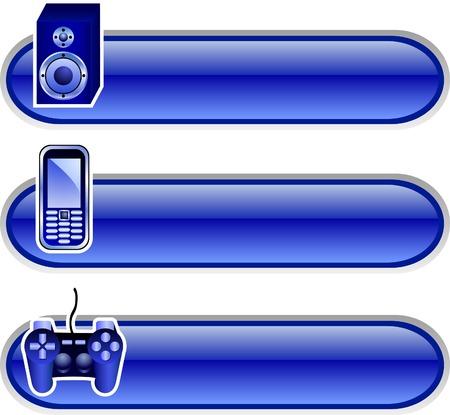 Beautiful boutons brillants. Vector illustration. Vecteurs