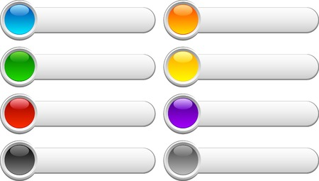 sparse: Beautiful shiny buttons. Vector illustration.