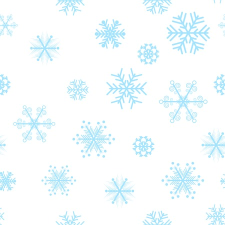 Blue snowflakes seamless background. Vector illustration.  Stock Vector - 3632053
