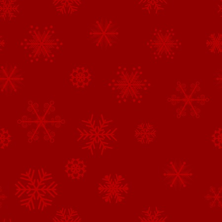 red snowflakes seamless background. Vector illustration.  Vector
