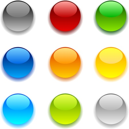 shiny buttons: Beautiful shiny buttons. Vector illustration.