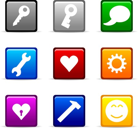 Set of web icons. Vector illustration.  Stock Vector - 3737112