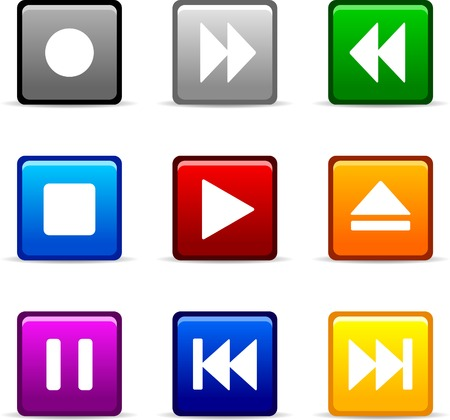 Set of web icons. Vector illustration.  Stock Vector - 3737111