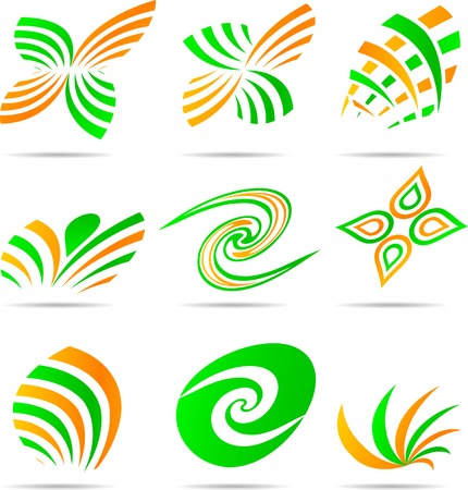 loghi aziendali: Set di loghi aziendali. Vector illustration. Vettoriali