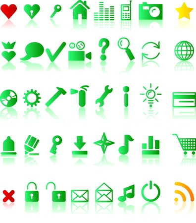 A lot of web icons. Vector illustration.  Vector