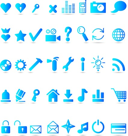 A lot of web icons. Vector illustration. Stock Vector - 3816182