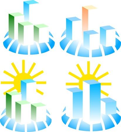 Set of building logos. Vector illustration.  Vector