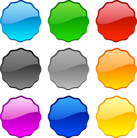 Web shiny buttons. Vector illustration. Stock Vector - 3849770