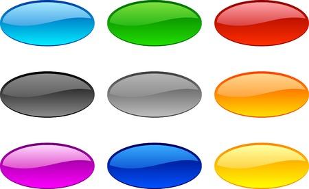Web shiny buttons. Vector illustration.  Illustration