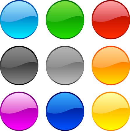 Web shiny buttons. Vector illustration. Stock Vector - 3849766