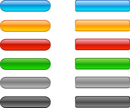 Web de brillantes botones. Ilustración vectorial. Foto de archivo - 3849765