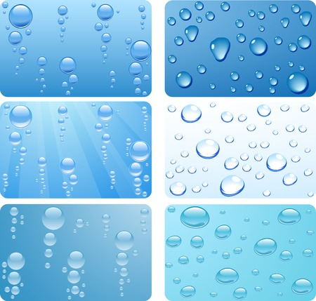 Water set for cards. Vector illustration. Stock Vector - 3927825