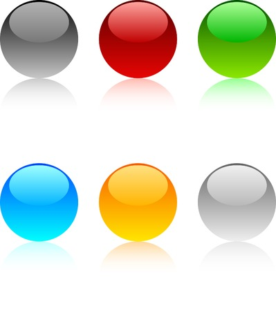 Web shiny buttons. Vector illustration.  Stock Vector - 3982491