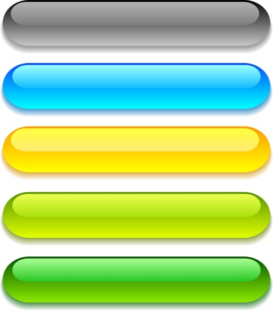 Web shiny buttons. Vector illustration. Stock Vector - 3982492