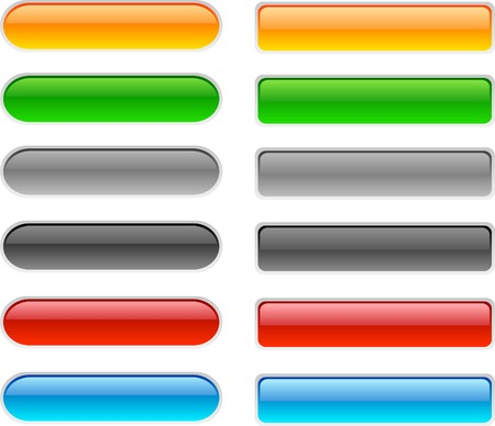 simplicity: Web shiny buttons. Vector illustration.  Illustration