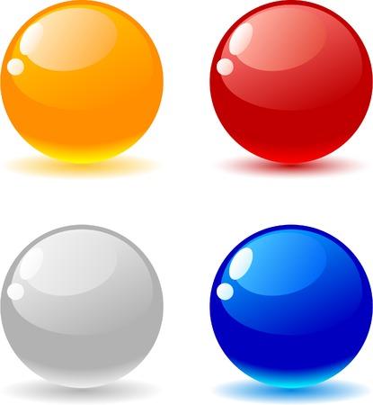 Beautiful glossy balls. Vector illustration.  Stock Vector - 3986763