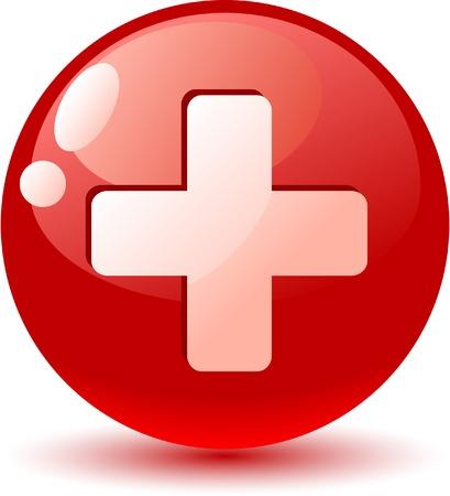 zwitserland vlag: Zwitserland vlag pictogram. Vector illustratie.  Stock Illustratie