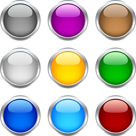 Círculo brillantes botones. Se utiliza malla. Ilustración de vector
