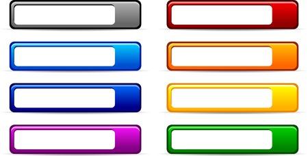 shiny buttons: Web shiny buttons. Vector illustration.  Illustration