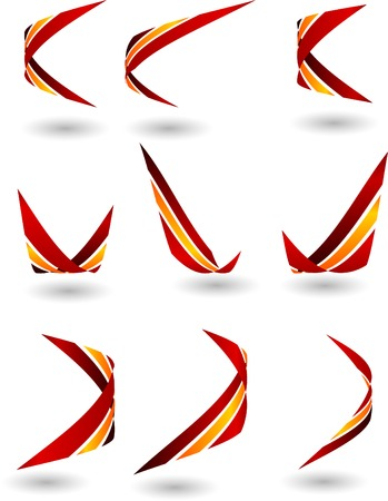 Set of company logos. Vector illustration.  Vector