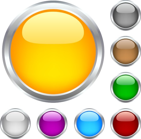 Circle shiny buttons. Used mesh. Stock Vector - 4294197