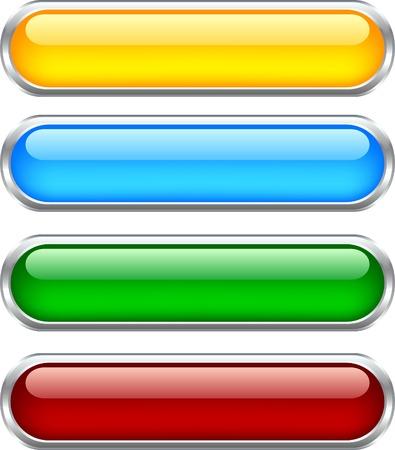 buttons: Web lucido pulsanti. Usato maglie.