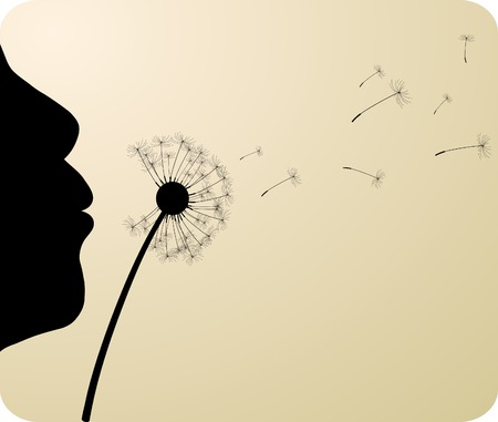 Gigl and dandelion. Vector illustration. Stock Vector - 4387517