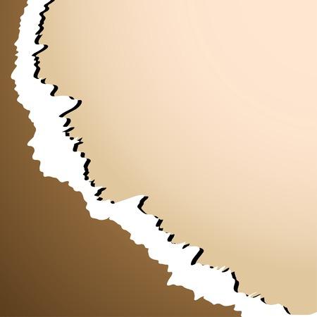 shredding: Sheet of damaged paper. Vector illustration.