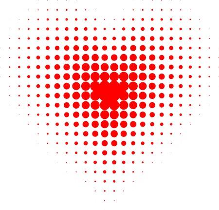 Red halftone heart. Vector illustration.  Vector