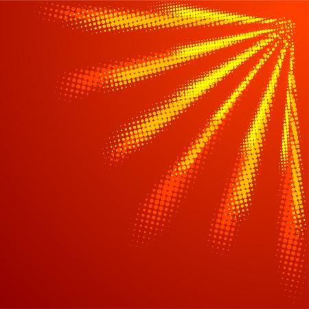 Orange halftone sun. Vector illustration. Stock Vector - 4480192