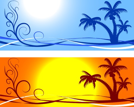 wave tourist: Tropical abstract backdrop. Vector illustration.