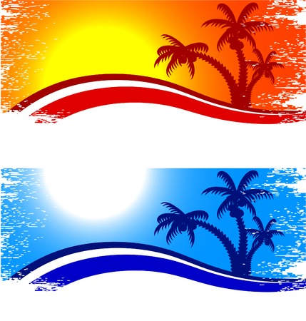 Tropical abstract backdrop. Vector illustration. Stock Vector - 4498425
