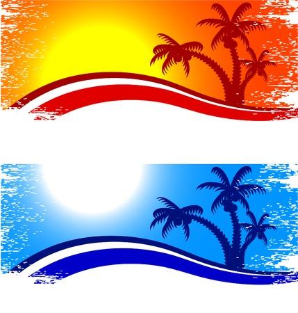Tropicales resumen telón de fondo. Ilustración vectorial. Ilustración de vector