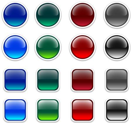 Internet shiny buttons. Vector illustration. Stock Vector - 4530216